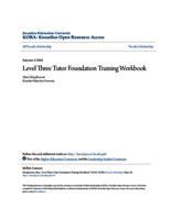 Level Three Tutor Foundation Training Workbook