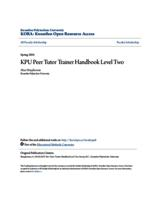 KPU Peer Tutor Trainer Handbook Level Two