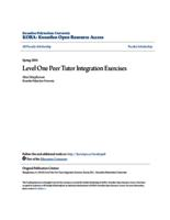 Level One Peer Tutor Integration Exercises