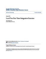 Level Two Peer Tutor Integration Exercises