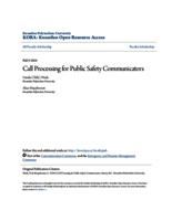 Call Processing for Public Safety Communicators