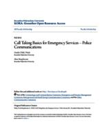 Call Taking Basics for Emergency Services – Police Communications