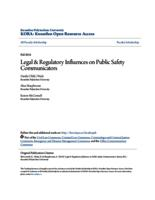 Legal & Regulatory Influences on Public Safety Communicators