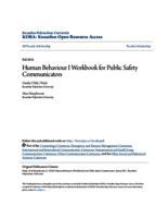 Human Behaviour I Workbook for Public Safety Communicators