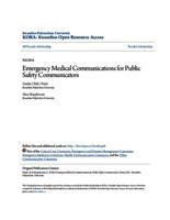 Emergency Medical Communications for Public Safety Communicators