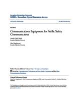 Communications Equipment for Public Safety Communicators