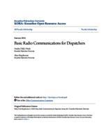 Basic Radio Communications for Dispatchers