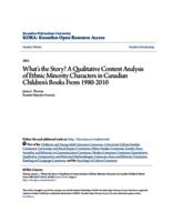 What's the Story? A Qualitative Content Analysis of Ethnic Minority Characters in Canadian Children's Books From 1980-2010