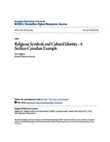 Religious Symbols and Cultural Identity : A Sicilian-Canadian Example