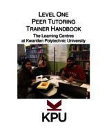 Level One Peer Tutoring Training Handbook