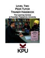 Level Two Peer Tutor Training Handbook