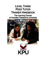 Level Three Peer Tutoring Training Handbook