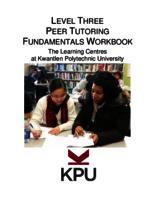 Level Three Peer Tutoring Fundamentals Workbook