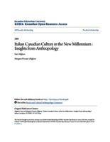 Italian Canadian Culture in the New Millennium : Insights from Anthropology