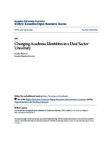 Changing Academic Identitites in a Dual Sector University