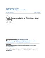 Faculty Engagement in Co-op Competency-Based Learning