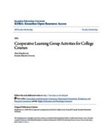 Cooperative Learning Group Activities for College Courses