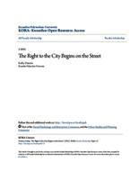 The Right to the City Begins on the Street
