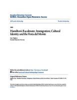 Hamilton's Racalmuto: Immigration, Cultural Identity and the Festa del Monte