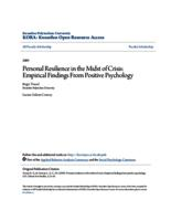 Personal Resilience in the Midst of Crisis: Empirical Findings From Positive Psychology
