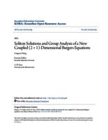 Soliton Solutions and Group Analysis of a New Coupled (2 + 1)-Dimensional Burgers Equations