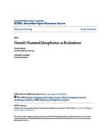 Finnish Nominal Ideophones as Evaluatives