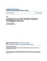 Oralizing Literacy A New Model for Peripheral Ethnolinguistic Education