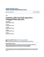 Limitations of the Case Study Approach to Pedagogical Ethics Education