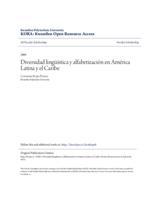 Diversidad lingüística y alfabetización en América Latina y el Caribe
