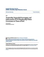 Trusteeship, Suspended Sovereignty, and Enforcement of UN Membership Duties: Governance in Times of Peril