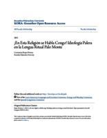¡En Esta Religión se Habla Congo! Ideología Palera en la Lengua Ritual Palo Monte