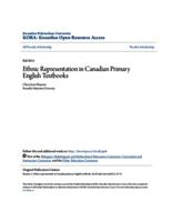 Ethnic Representation in Canadian Primary English Textbooks